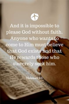 Believe in God and you'll never be disappointed