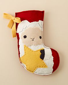 Kata Golda 'Star Lamb' Holiday Stocking