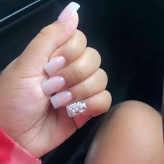 Short and cute ☺️❤️ pick ya fav Short Square Acrylic Nails, Acrylic Nails Coffin Short, Simple Acrylic Nails, Best Acrylic Nails, Short Square Nails, Bling Acrylic Nails, Drip Nails, Bling Nails, Aycrlic Nails