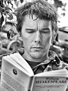 Ethan Hawke reading Shakespeare. He played a modern Hamlet in 2000.