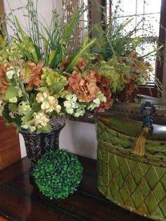 The Tuscan Home: Foyer Table Arrangement