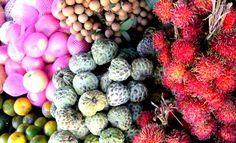 Fruits in Vietnam. Nhan, chom chom, man cau...<3