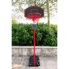 Zimtown Basketball Goal - Height Adjustable, Movable / Portable Basketball Hoop Stand System with Wheels, Backboard, for Kids Teen Outside Backyard Playing. Portable Basketball Hoop, Basketball Systems, Basketball Goals, Soccer Goal Post, Galvanized Steel Pipe, Street Basketball, Outdoor Workouts, How To Level Ground