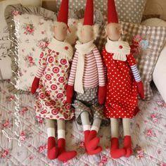 Tilda Style, Maileg Patterns, Winter Tilda, Tilda Dolls, Tilda Maileg, Christmas, Maileg Pixie, Clever Crafts, Creations