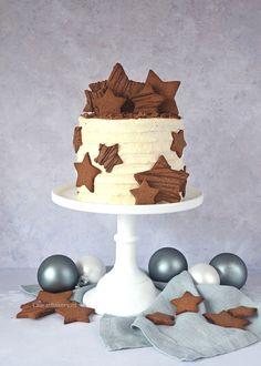 Gingerbreadtaart met kerstkoekjes - Laura's Bakery Cosy Christmas, Christmas Cakes, Fancy Cakes, Party Drinks, Sugar And Spice, Beautiful Cakes, Cake Cookies, Food Art, Frosting