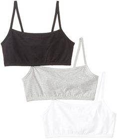 Fruit of the Loom Women'sCotton Pullover Sportsbra, White/Grey Heather/Black Hue, Size 32(Pack of 3) *** Want to know more, click on the image.