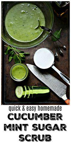 DIY Cucumber Mint Sugar Scrub - bell' alimento