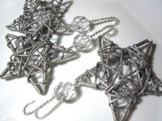 Sparkly Silver Willow Star Christmas by ChristmasisMagical on Etsy