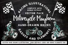 Motorcycle Mayhem by SaultDesign on @creativemarket