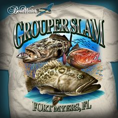 Grouper Slam fishing t-shirt design created by BoldWater.