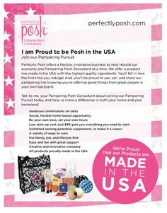All of our products are made in the USA! www.perfectlyposh.us/jourdan