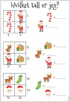 Adventskalender 2015 – luke 2 | Femoverfire Kids Christmas, White Christmas, Christmas Crafts, Luke 2, Math Projects, Too Cool For School, Kids Education, Classroom Management, Diy And Crafts
