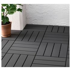 IKEA - RUNNEN, Decking, outdoor, Floor decking makes it easy to refresh your terrace or balcony.The floor decking is weather-resistant and easy to care for since Backyard Patio, Backyard Landscaping, Pallet Patio Decks, Outdoor Decking, Outdoor Patio Mats, Outdoor Tiles, Ikea Deck Tiles, Rooftop Patio, Patio Bar