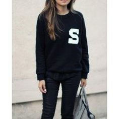 #trendsgal.com - #Trendsgal Scoop Neck Long Sleeve Printed Sweatshirt For Women - AdoreWe.com