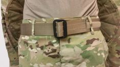 US Army Tan 499 OCP Scorpion Rigger Belt