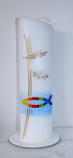 Taufkerze von mac-kunst  Regenbogenfisch.