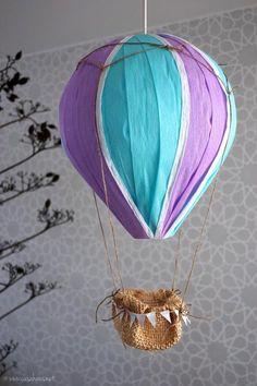 DIY: Hot air balloon – Cómo hacer un globo aerostático Diy Crafts Jewelry, Dyi Crafts, Diy Crafts Videos, Crafts For Kids, Ballon Flowers, Paper Flowers, Baby Shower Balloons, Birthday Balloons, Ballon Diy