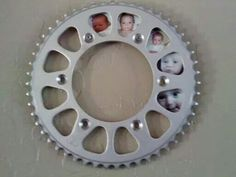 Motorcycle sprocket picture frame