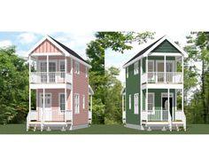 10x28 1-Bedroom 1.5-Bath Small Houses -- PDF Floor Plans -- 475 sq ft