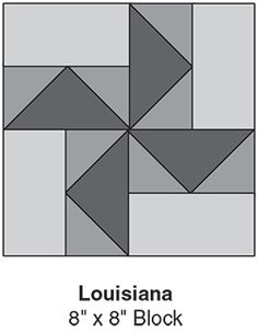 """Louisiana, part of Quilter's World's FREE Quilt Block of the Month. Get the download here: http://www.quiltersworld.com/Quilt_Block/?id=3  """"Like"""" the Quilter's World Facebook page so you don't miss a single monthly installment: https://www.facebook.com/QuiltersWorldMag"""