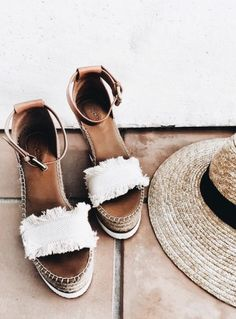 SEE BY CHLOE Canvas and leather espadrilles wedge sandals Crazy Shoes, Me Too Shoes, Look Fashion, Fashion Shoes, Face Fashion, Diva Fashion, Fashion Fashion, Runway Fashion, Fashion Models