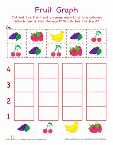 These free worksheets help kids learn about graphing and bar charts. Learning about bar graphs is a great way to connect mathematical concepts to the real . Graphing Worksheets, Graphing Activities, Free Kindergarten Worksheets, Free Printable Worksheets, Worksheets For Kids, Preschool Activities, Free Printables, Preschool Graphs, Preschool Kindergarten