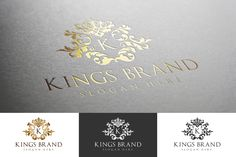 Kings Brand Logo Template by BMachina on Creative Market