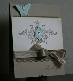 thank you using Stampin Up Bliss