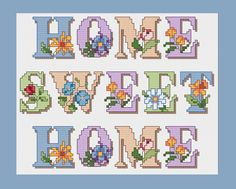 Home Sweet Home punto croce modello PDF Instant di StitchinMommy, $4.00