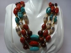 SALE One of a kind multi Color Gemstone Bib by BianchiDesigns, $15.00
