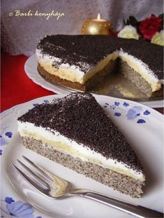 Collection and tips for hobbies Poppy Cake, Hungarian Recipes, Cooking Recipes, Healthy Recipes, Cake Cookies, Sweet Recipes, Food And Drink, Sweets, Dishes