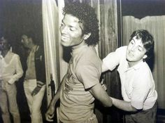 """Michael Jackson and Paul McCartney fooling around"""