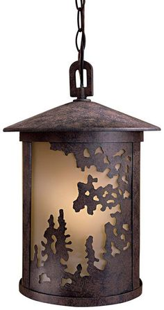 View the The Great Outdoors GO 72034-PL 1 Light Lantern Pendant from the Sunset Ranch Collection at LightingDirect.com.
