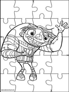 Printable Jigsaw Puzzles To Cut Out For Kids Igor 3 Coloring Pages