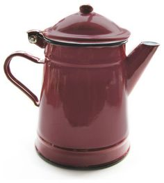 Red Coffee Pot traditional coffee makers and tea kettles