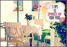 Tips to Spruce Up Your Patio!