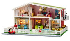 Midcentury-inspired Lundby dolls house plus modern accessories ...