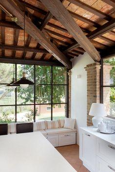 infissi-minimal (3) New Room, Tiny House, Loft, Patio, Windows, Mary, Interiors, Home Decor, Garden
