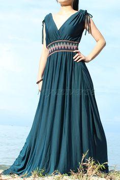 Teal Bridesmaid Dress Maxi Dress Plus Size Women by myuniverse, $55.00