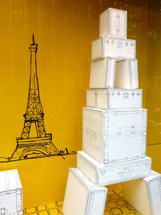 Louis Vuitton window display as inspiration for our window this month.