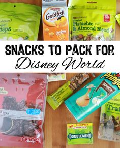 Snacking at Disney World can be expensive. Save room in the budget for other things with these snacks to pack for Disney World.