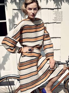 High Fashion Bikes: Harper's Bazaar UK January 2015 — Bike Pretty