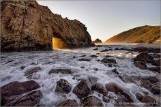 Don Smith Photography   -    Portal to the Sea, Keyhole Arch, Pfeiffer Beach, Big Sur Coast, California