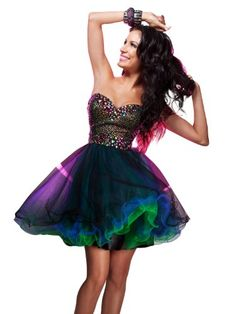 Shop this sweet 16 number! Short, Baby Doll Dress 11358 by Tony Bowls