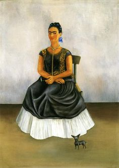 Itzcuintli Dog with Me, 1938 Frida Kahlo loved animals and had many pets. She considered them a replacement for the children she was not able to have after a serious bus accident crushed her spine and lower body. Out of her 143 paintings, 55 of them are self-portraits portraying physical and psychological wounds and featuring her beloved animals. Among her pets she kept hairless Mexican ixquintle dogs, her favorite named Mr Xoloti