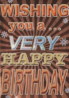 Very happy Birthday (male)