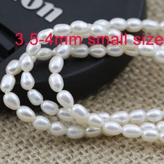 """Potato Pearls 2 TWO 16/"""" Strand 6.5x7 LIGHT GOLDEN Natural  FRESHWATER PEARLS"""