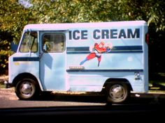 Ice Cream Truck in the hot heat of summer.  The yummy banana pop was my favorite!!