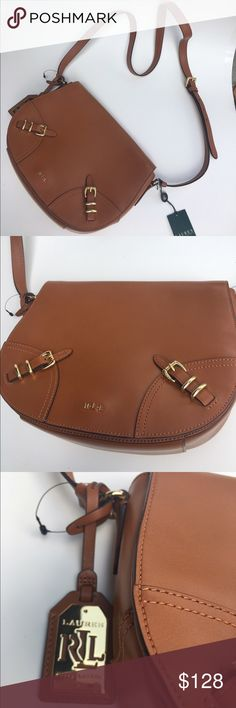 On  Trend 🔥🔥🔥 Lauren Ralph Lauren saddle bag Beautiful bag  new with tags  has a scratch on back see photos please. Lauren Ralph Lauren Bags Crossbody Bags