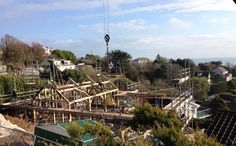 Project currently on site in Mevagissey. By Roderick James Architects and Carpenter Oak Ltd.